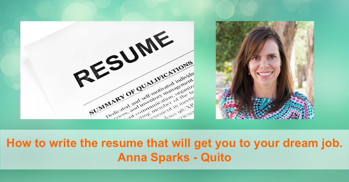 Tn24 How To Write The Resume That Will Get You To Your