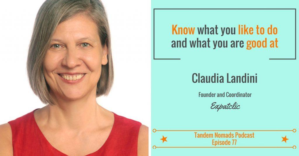 Tandem Nomads Claudia Landini founder of portable non-profit Expatclic