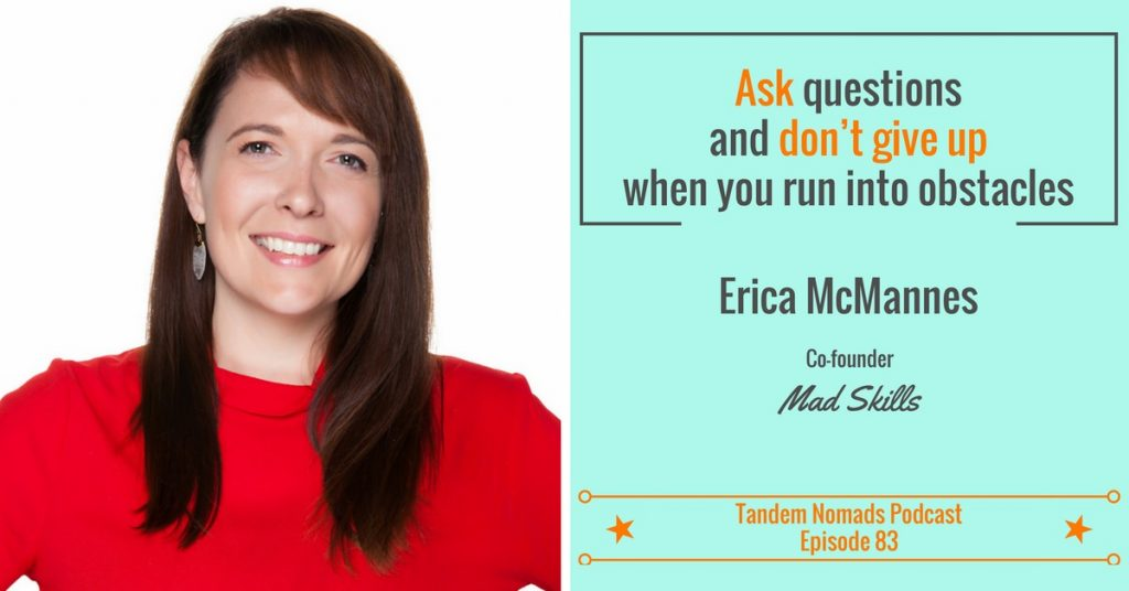 Erica McMannes portable startup advice