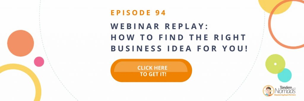 find right business for you webinar freebie
