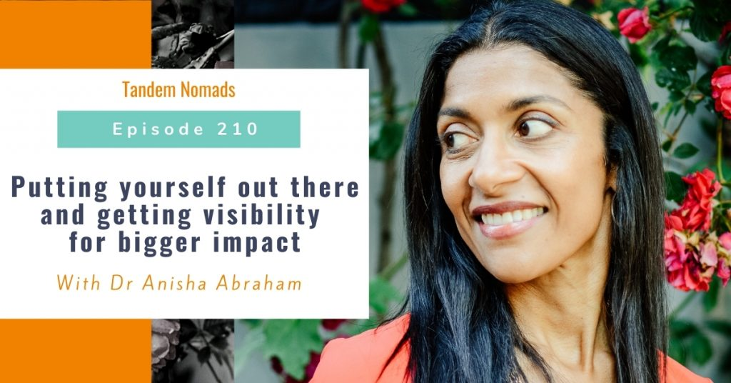 Putting yourself out there and getting visibility for bigger impact