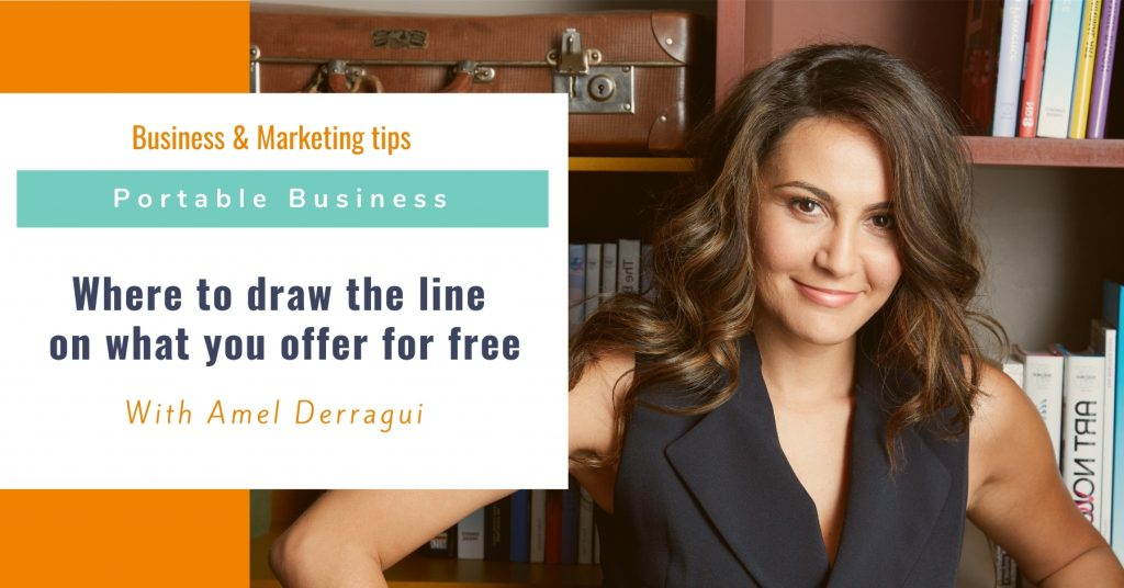 Where to draw the line on what you offer for free