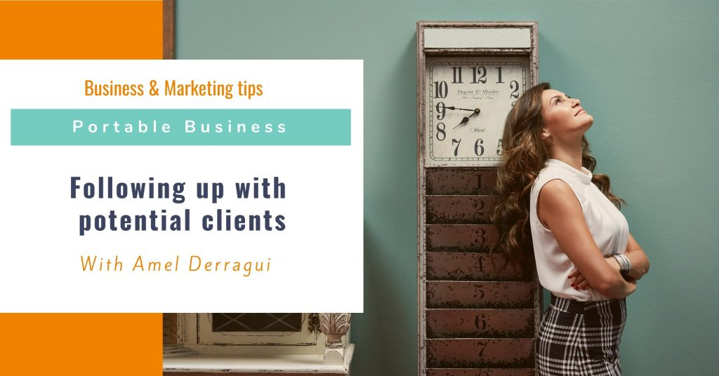 Following up with potential clients