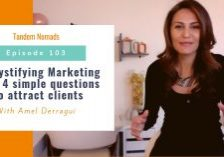 TN103 Demystify marketing with 4 simple questions